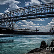 Canadian Tranfer Under Blue Water Bridges Art Print