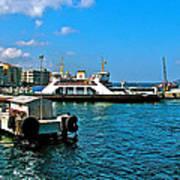 Canakkale Ferry Dock-turkey Art Print
