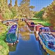Canal Barges Art Print