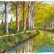Canal Du Midi At Toulouse France Art Print