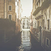 Canal In Venice Italy Applying Retro Instagram Style Filter Art Print