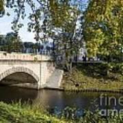 Canal Near Freedom Monument Riga Art Print