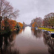 Canal Of Amsterdam Art Print