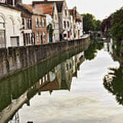 Canal Reflection  Art Print