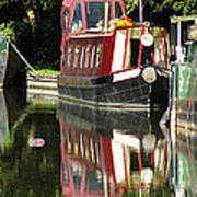 Canal Reflections Cropped Art Print