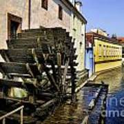 Canal Waterwheel Art Print