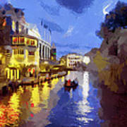 Water Canals Of Amsterdam Art Print