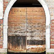 Canalside Weathered Door Venice Italy Art Print