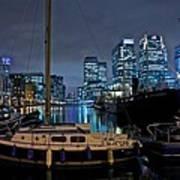 Canary Wharf Dockyards  Art Print