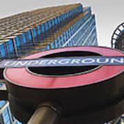 Canary Wharf Tube Sign Art Print