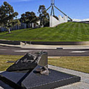 Canberra - Memorial And Parliament House Art Print