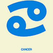 Cancer Zodiac Sign Blue Art Print