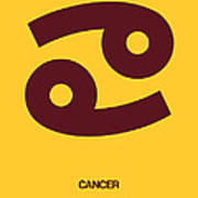 Cancer Zodiac Sign Brown Art Print
