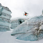 Candide Thovex Out Of Nowhere Into Nowhere Art Print