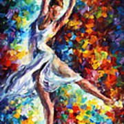 Candle Fire - Palette Knife Oil Painting On Canvas By Leonid Afremov Art Print
