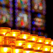 Candles In Notre Dame Art Print