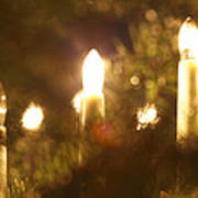 Candles Seen Through A Fir Tree Art Print