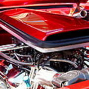 Candy Apple Red Horsepower - Ford Racing Engine Art Print