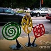 Candy Bike Rack In Lomoish Art Print