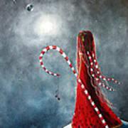 Candy Cane Fairy By Shawna Erback Art Print