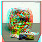 Candy Jar - Use Red-cyan Filtered 3d Glasses Art Print
