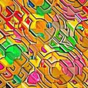 Candy - Lolly Pop Abstract  Art Print