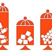 Canisters In Orange Art Print