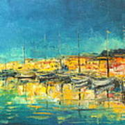 Cannes By Night Art Print