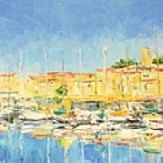 Cannes Harbour Art Print