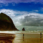 Cannon Beach At Dusk II Art Print