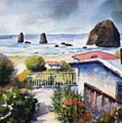 Cannon Beach Cottage Art Print