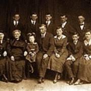 Cannon Family Portrait Circa 1912 Art Print