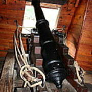 Cannon On Sailship Art Print