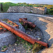 Cannon Remains From Ww2 Art Print
