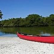 Canoe And Beach Art Print