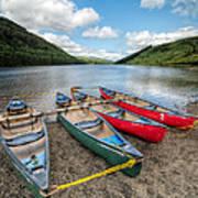 Canoe Break Print by Adrian Evans