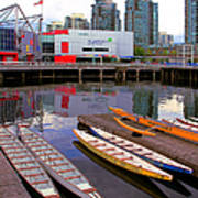 Canoe Club And Telus World Of Science In Vancouver Art Print