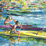 Canoe Race In Polynesia Art Print