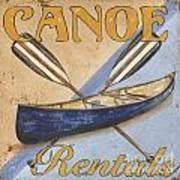 Canoe Rentals Art Print