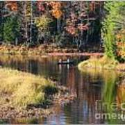 Canoeing In The Fall Art Print