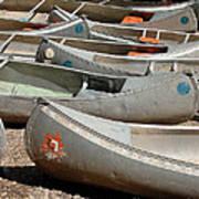 Canoes 143 Art Print
