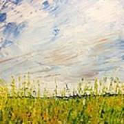 Canola Field In Abstract Art Print