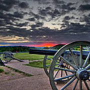 Canon Over Gettysburg Art Print by Andres Leon