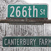 Canterbury Ice Art Print