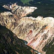 Canyon And Yellowstone Falls Art Print