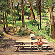 Canyon Campground - Yellowstone  1950's Art Print