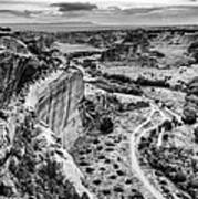 Canyon De Chelly Navajo Nation Chinle Arizona Black And White Art Print