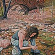 Canyon Hike Art Print