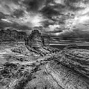 Canyon Light And Clouds Art Print