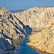 Canyon Of Zrmanja River In Croatia Art Print